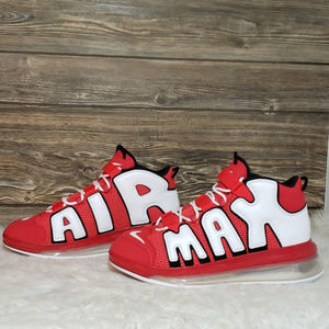 New Nike Air Max Uptempo 720 Red White Sneakers